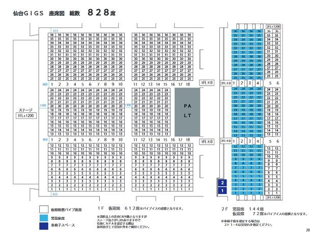 仙台GIGS座席表