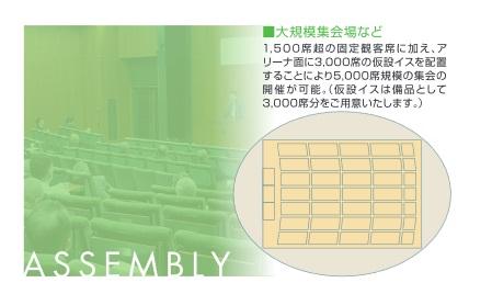 函館アリーナ集会レイアウト